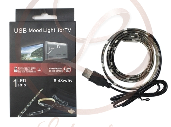 USB LED szalag TV mögé